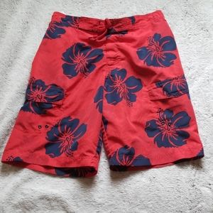 Greendog swim trunks size small red navy blue
